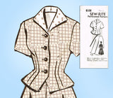 1950s Vintage Mail Order Sewing Pattern 8106 Misses 2 Piece Suit Size 38 Bust
