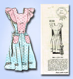 1940s Vintage Mail Order Sewing Pattern 8130 FF WWII Misses Pinafore Dress Sz 12 - Vintage4me2