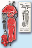 1950s Vintage Mail Order Sewing Pattern 8203 Uncut Misses Dress & Jacket Size 10