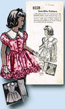 1940s Vintage Mail Order Sewing Pattern 8228 Little Girls Sunday Best Dress Sz 8