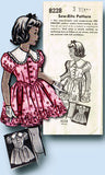 1950s Vintage Toddler Girls Dress VTG Mail Order Sewing Pattern 8228 Size 3