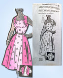 1950s Vintage Mail Order Sewing Pattern 8238 Misses Cocktail Dress Size 14.5 33B
