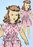 1940s Vintage Mail Order Sewing Pattern 8249 Cute Easy Toddler Girls Dress Sz 4
