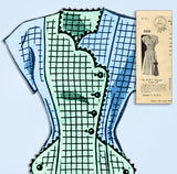 1940s Vintage Mail Order Sewing Pattern 8528 Plus Size Princess Dress Sz 42 Bust