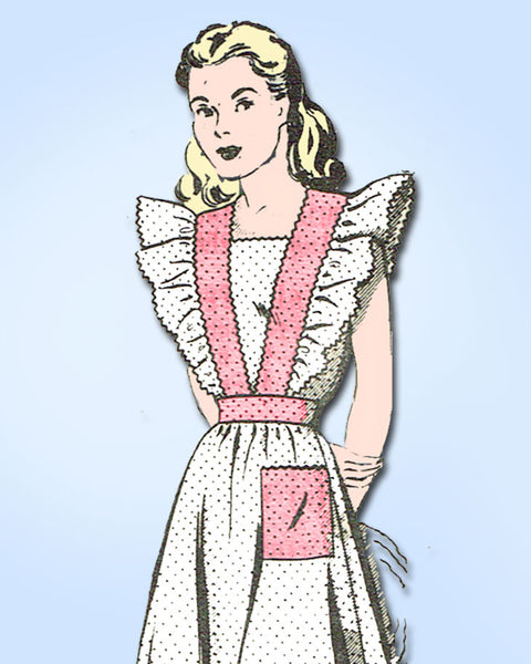 1940s Vintage Mail Order Sewing Pattern 8615 Misses Pinafore Dress SIze 15 33B - Vintage4me2