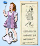 1940s Vintage Mail Order Sewing Pattern 8690 Toddler Girls Jumper Dress Size 6 - Vintage4me2