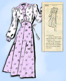 1940s Vintage Mail Order Sewing Pattern 8731 Uncut Misses Nightgown Size 32 Bust