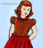 Mail Order 8869: 1950s Cute Little Girls Peplum Suit Sz 10 Vintage Sewing Pattern