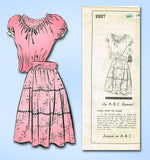 1940s Vintage Mail Order Sewing Pattern 8887 Misses Skirt and Blouse Size 14 32B - Vintage4me2
