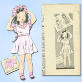 1940s Vintage Marian Martin Sewing Pattern 9003 Toddler Girls Dress & Hat Size 6 - Vintage4me2