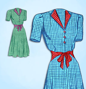 1940s Vintage Mail Order Sewing Pattern 9005 Uncut Misses WWII Dress Sz 36 Bust