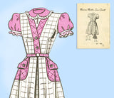 Marian Martin 9031: 1940s Cute Toddler Girls Dress Sz6 Vintage Sewing Pattern - Vintage4me2