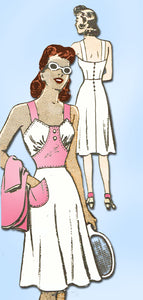 1940s Vintage Marian Martin Sewing Pattern 9061 Uncut Sexy WWII Sun Dress Sz 12 - Vintage4me2