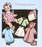1950s Vintage Marian Martin Sewing Pattern 9099 20 In Baby Doll Clothes ORIG