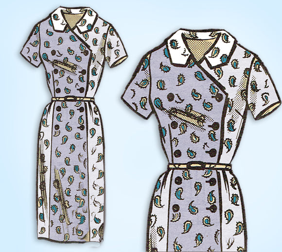 1960s ORIG Vintage Mail Order Sewing Pattern 9150 Womens Half Size Dress 39 Bust