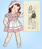 1930s Vintage Marian Martin Sewing Pattern 9239 18 Inch Little Girl Doll Clothes