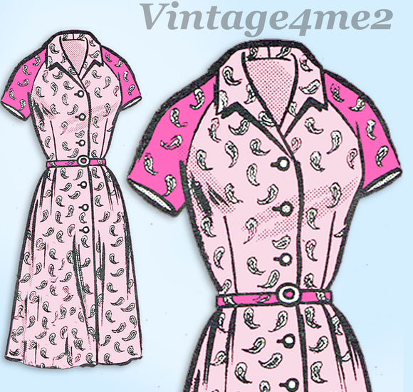 1960s ORIG Vintage Mail Order Sewing Pattern 9292 Womens Dress Sz 36 Bust - Vintage4me2