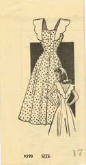 1940s Vintage Marian Martin Sewing Pattern 9293 Uncut Misses Sun Dress Size 35 B