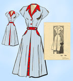 1950s Vintage Marian Martin Sewing Pattern 9329 Misses Dress w Cap Sleeves 34 B - Vintage4me2