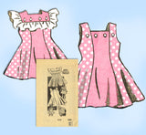 Marian Martin 9339: 1940s Girls Sun Dress & Bonnet Sz 6 Vintage Sewing Pattern - Vintage4me2