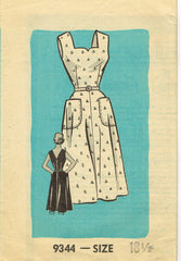 1950s ORIG Vintage Marian Martin Sewing Pattern 9344 Misses Sun Dress Size 38 B