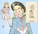 1940s VTG Mail Order Sewing Pattern 9345 Uncut Toddler Girls Dress & Cape Size 6 - Vintage4me2