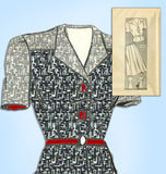 1940s Vintage Mail Order Sewing Pattern 9372 Uncut Plus Size Womens Suit 40 Bust - Vintage4me2