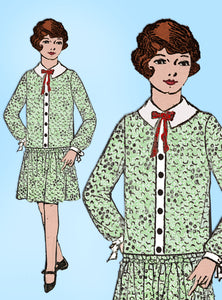 Mail Order 938: Vintage Mail Order Sewing Pattern Girls Flapper Dress Size 12 vintage4me2