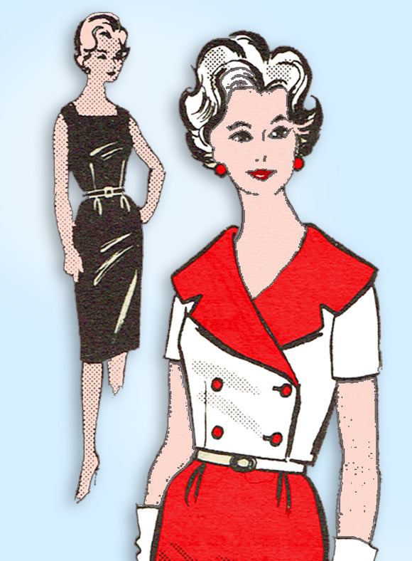 1960s Vintage Mail Order Sewing Pattern 9430 Misses Sheath Dress & Jacket Sz 35B - Vintage4me2