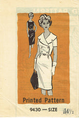 1960s Vintage Mail Order Sewing Pattern 9430 Misses Sheath Dress & Jacket Sz 35B