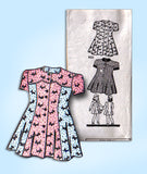 1940s Vintage Mail Order Sewing Pattern 9521 WWII Toddler Girls Princess Dress 4