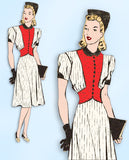 1940s Vintage Mail Order Sewing Pattern 9830 Stylish WWII Womens Dress Size 36 B