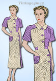 Anne Adams 4235: 1930s Rare Misses Day Dress Size 38 Bust Vintage Sewing Pattern