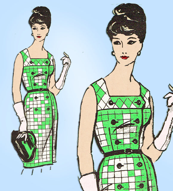 Anne Adams 4524: 1960s Misses Sun Dress Sz 39 Bust Vintage Sewing Pattern  - Vintage4me2