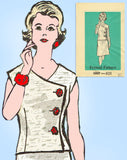 Anne Adams 4969: 1960s Plus Size 2 Piece Dress 40 Bust Vintage Sewing Pattern - Vintage4me2