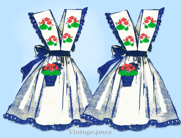 Alice Brooks 7027: 1940s Uncut Misses Embroidered Apron Vintage Sewing Pattern