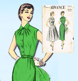 1950s Vintage Advance Sewing Pattern 7111 Women's Shirtwaist Sun Dress Size 38 B - Vintage4me2