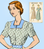 1940s Original Vintage Advance Sewing Pattern 5004 Misses Feminine Dress Sz 36 B - Vintage4me2