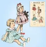 1950s Vintage Advance Sewing Pattern 5695 Cute Baby Girls Dress & Panties 6 mos