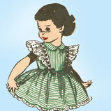 1950s Vintage Advance Sewing Pattern 5732 Uncut Baby Girls Ruffled Dress Sz 2 - Vintage4me2