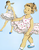 1950s Vintage Advance Sewing Pattern 7006 Toddler Girls Ruffled Petticoat Slip 4 - Vintage4me2