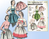 1950s Vintage Advance Sewing Pattern 8160 Uncut Misses Easy Apron Set Fits All