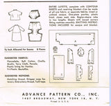 1950s Vintage Advance Sewing Pattern 8218 Infant Layette Set w Fitted Crib Sheet
