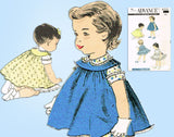 1950s Vintage Advance Sewing Pattern 8220 Toddler Girls Dress and Jumper Size 1 - Vintage4me2