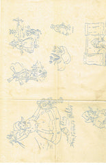 1940s Vintage Betty Burton Embroidery Hot Iron Transfer Dutch DOW Towels Uncut - Vintage4me2