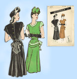 Butterick 3732: 1940s Uncut Misses Dinner Dress Size 32 B Vintage Sewing Pattern