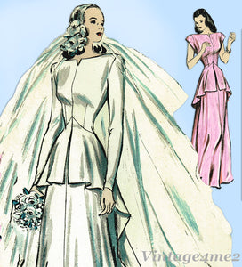 Butterick 3990: Uncut Misses Wedding Dress Size 32 Bust Vintage Sewing Pattern