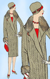 Butterick 1600: 1920s Uncut Plus Size Flapper Coat Sz 44B Vintage Sewing Pattern - Vintage4me2