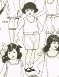 Butterick 2833: 1920s Vintage Sewing Pattern Toddlers Underwear Drawers Size 2 Vintage4me2