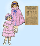 1920s Vintage Butterick Sewing Pattern 423 24inch Little Girl Doll Clothes Set